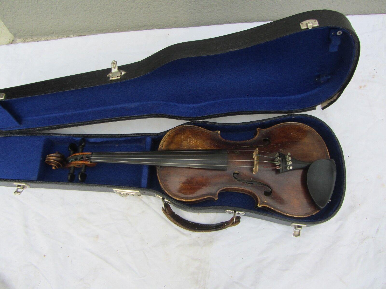 Alte Geige Violine mit Zettel Maggini Rep. Machold