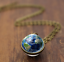 Solar-System-Pendants-Necklace-Galaxy-Planet-Necklace-S-Double-Sided-Glass-Dome thumbnail 15