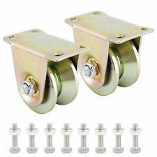 2pcs 2 Inch Sliding Gate Roller Steel Wheelv Groove Caster Wheel V Groove Wheel