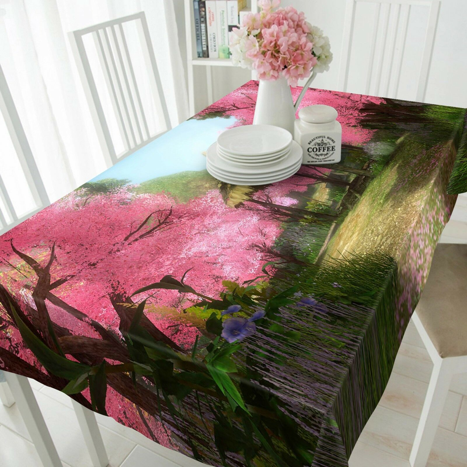 3D Cherry Blossoms 08 Tablecloth Table Cover Cloth Birthday Party Event AJ Lemon