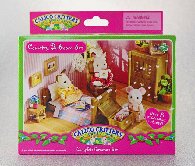 Sylvanian Families Calico Critters Country Bedroom Furniture Set