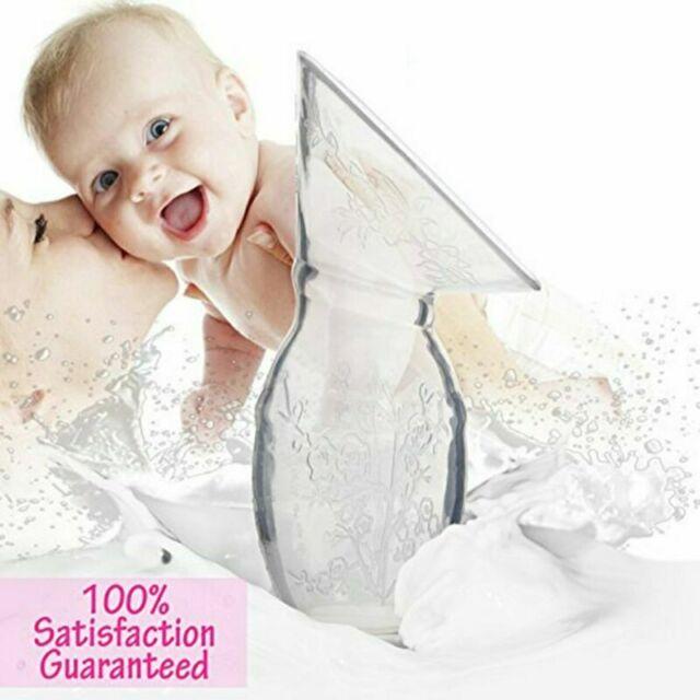 Silicone Mom Breastfeeding Manual Breast Pump Baby Feeding Milk Collector RM91