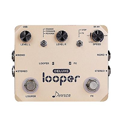 donner deluxe looper guitar effect pedal loop station for sale online ebay. Black Bedroom Furniture Sets. Home Design Ideas