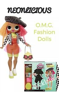 """FASHION DOLL OMG SERIES 1-11"""" O.M.G 20 SURPRISES LOL SURPRISE NEONLICIOUS"""