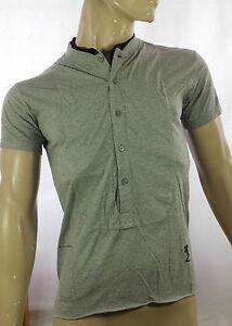 RELIGION-Grandad-Collar-T-Shirt-in-Grey-Marl-Was-40-Now-29
