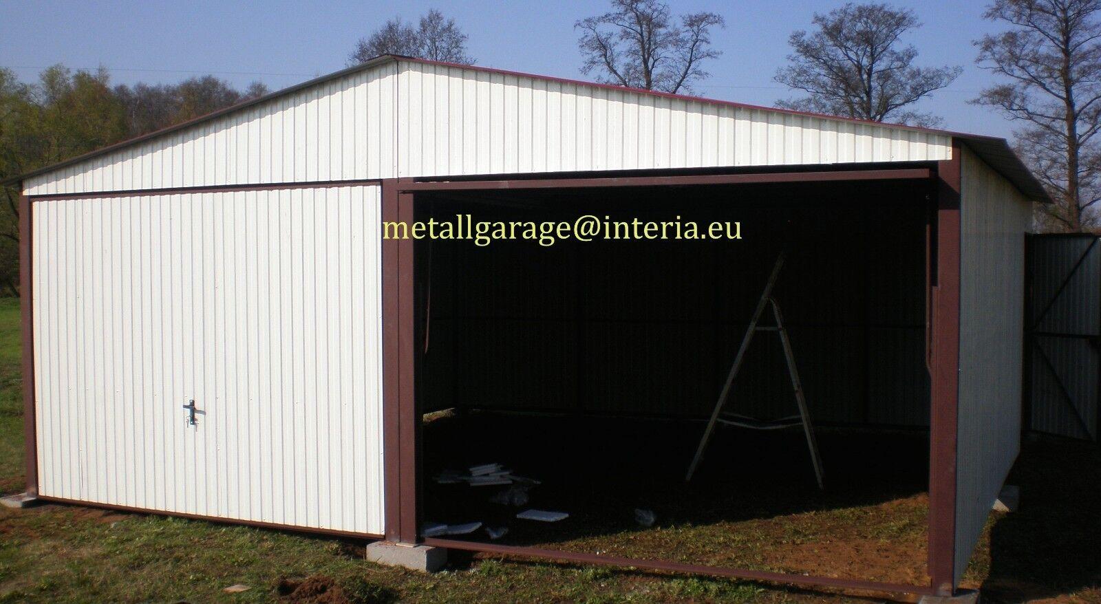 RAL9010 5,0x5,5 Blechgarage Fertiggarage Metallgarage LAGERRAUM RAUM Schuppen