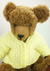 Unbranded-Teddy-Bear-Fully-Jointed-with-Synthetic-Fur-amp-Velveteen-Pads-KC488