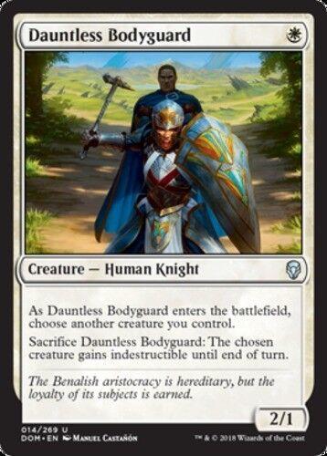 x4 Dauntless Bodyguard MTG Dominaria U M//NM English