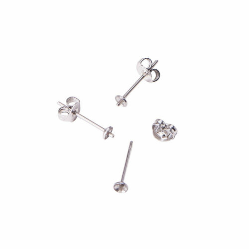 100pcs 304 Stainless Steel Butterfly Theme Earnut Earring Safety Backs Stoppers