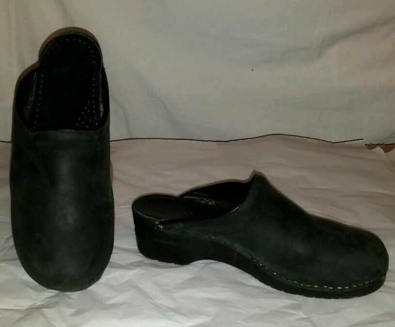 Nice Black DANSKO Open Heel Clogs Size 41 (U S 10.5-11) shoes Professional