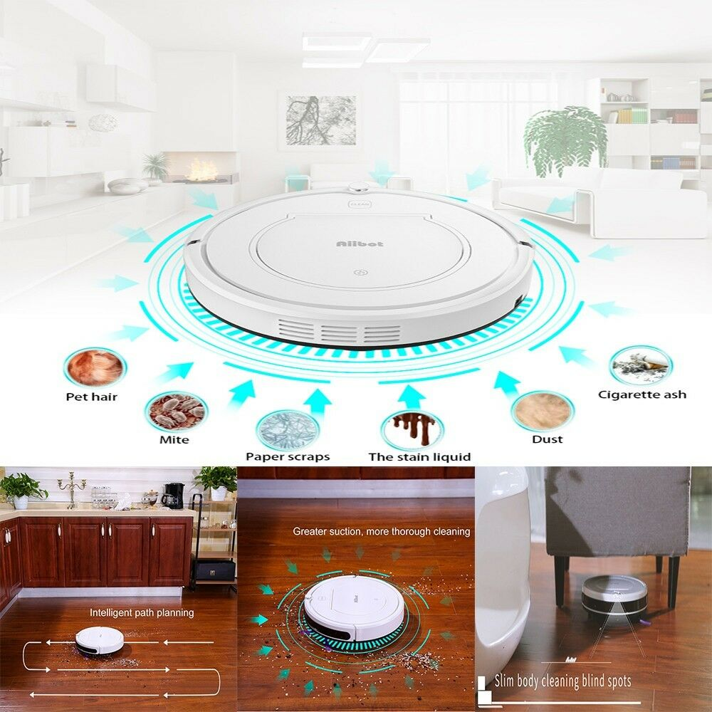 Intelligent Vacuum Cleaner Sweeping Low Noise Smart Robot Self-refilling 4 Modes