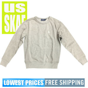 Polo-Ralph-Lauren-Womens-NWT-Grey-Long-Sleeve-Crew-Neck-Sweater-Free-Shipping