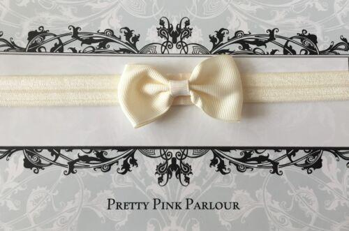 2000 sold UK SELLER Baby Girl Bow Hairband Soft Elastic Headband Pink White Red