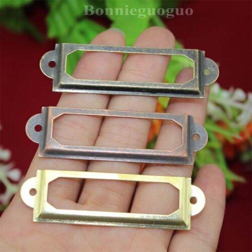 100 Pcs Card Holder Drawer Pull//label holders//Label Frames Wholesale free ship