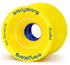 ORANGATANG 4President - 70mm 86a Yellow Longboard Wheels Rollen