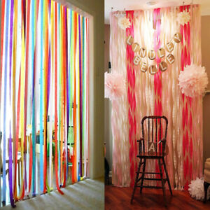 Image Is Loading Crepe Paper Streamer Wedding Birthday Party Supplies Home