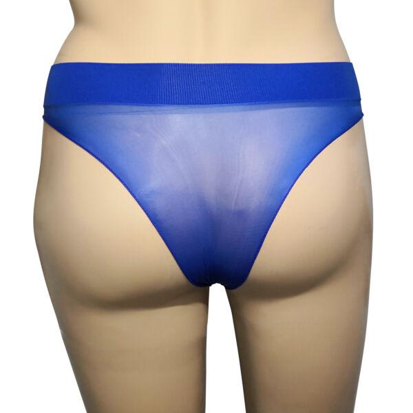 Damen Sheer Glanz Slip Tanga Höschen Panty Nylon Transparent Oil Shine Unterhose