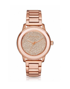 New Michael Kors Kinley Pave Crystal Dial Rose Gold Women s 42mm ... 979a3d58e9