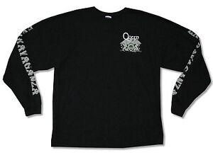 QUEEN-Crest-Logo-Nero-a-Maniche-Lunghe-T-Shirt-Extravaganza-Nuovo-Ufficiale