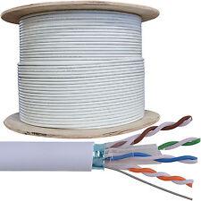 305M CAT6 FTP/STP Cavo Schermato Bobina/tamburo-puro Ethernet in rame rete LAN