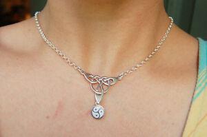 925 Sterling Silver Celtic knot link Chain Locking BDSM Slave Bondage Day Collar