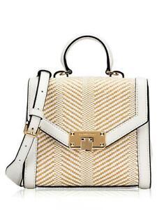 Details about Michael Kors Bag Handbag Kinsley XS TH Satchel Natural White New show original title