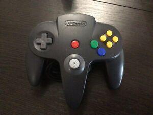 Manette Officielle Nintendo 64 N64 Noire Filaire Port offert