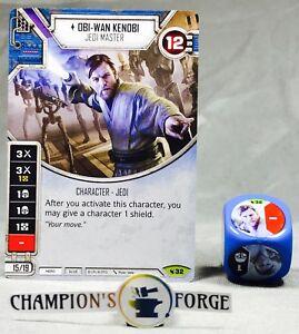 Details about Star Wars Destiny Legacies Set Obi-Wan Kenobi #32 Rare w/  Premium Die