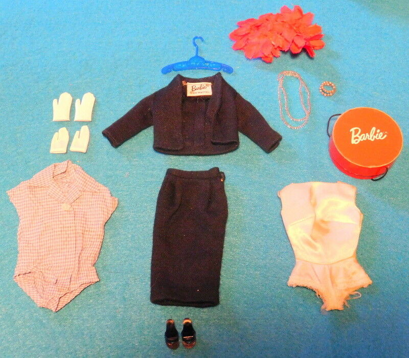 Vintage - 1959-1960 - Barbie -  Juego de cercanías  - A Set Completo-todo Original