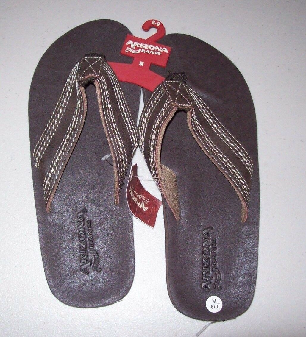 MENS ARIZONA STITCHED FLIP FLOPS BROWN MULTIPLE MSRP$26 SIZES NEW WITH TAGS MSRP$26 MULTIPLE 51f2a4