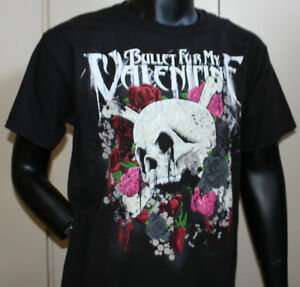 New Bullet For My Valentine Skull Rose Hanes Adult Tee Shirt T