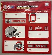 Ohio State Buckeyes Christmas Present Name Labels Team Gift Stickers - To/From
