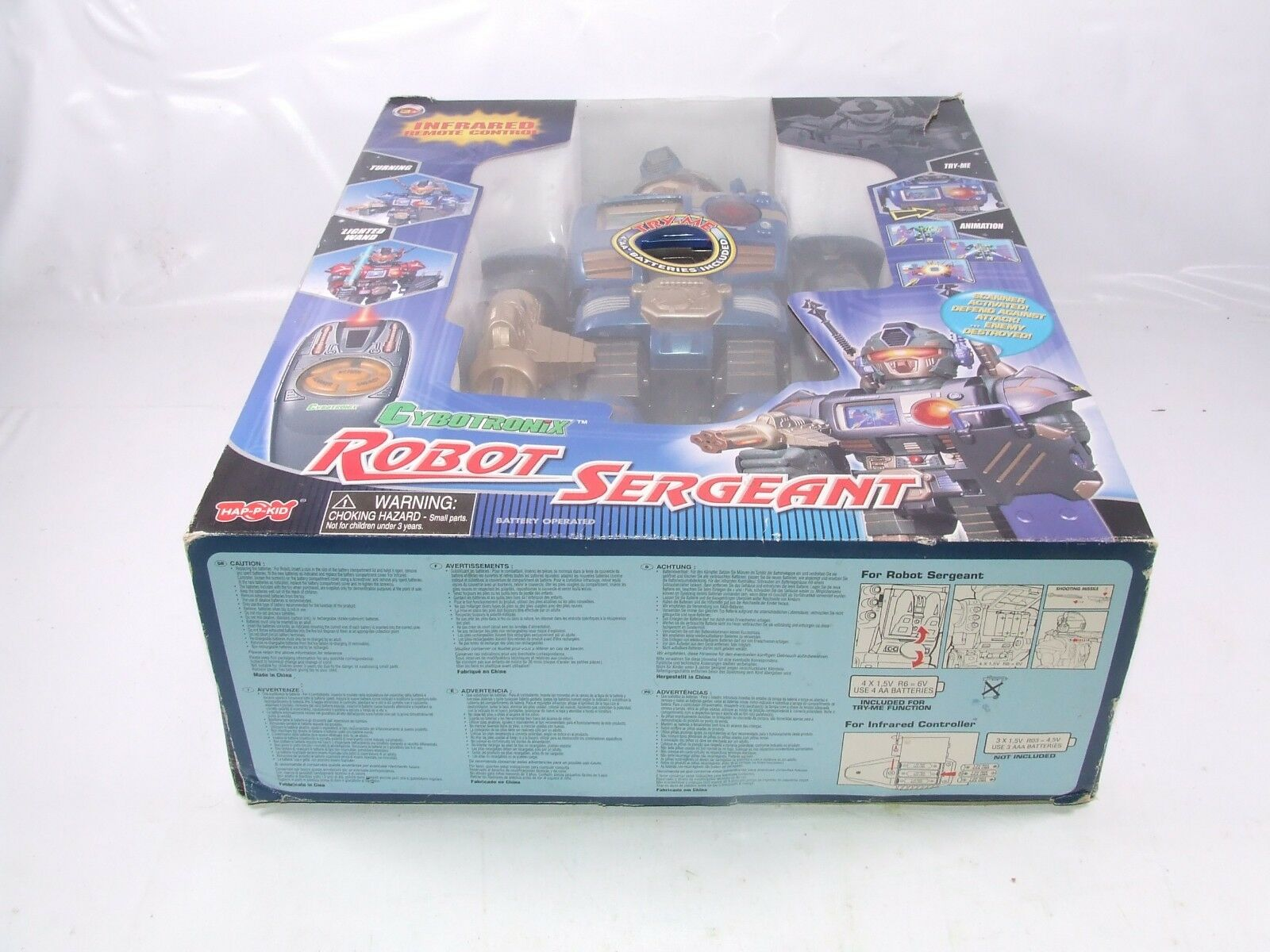 Cybotronix Robot Sergeant 16  Infrared Remote Control Robot Boxed Boxed Boxed Rare 5a9fa0