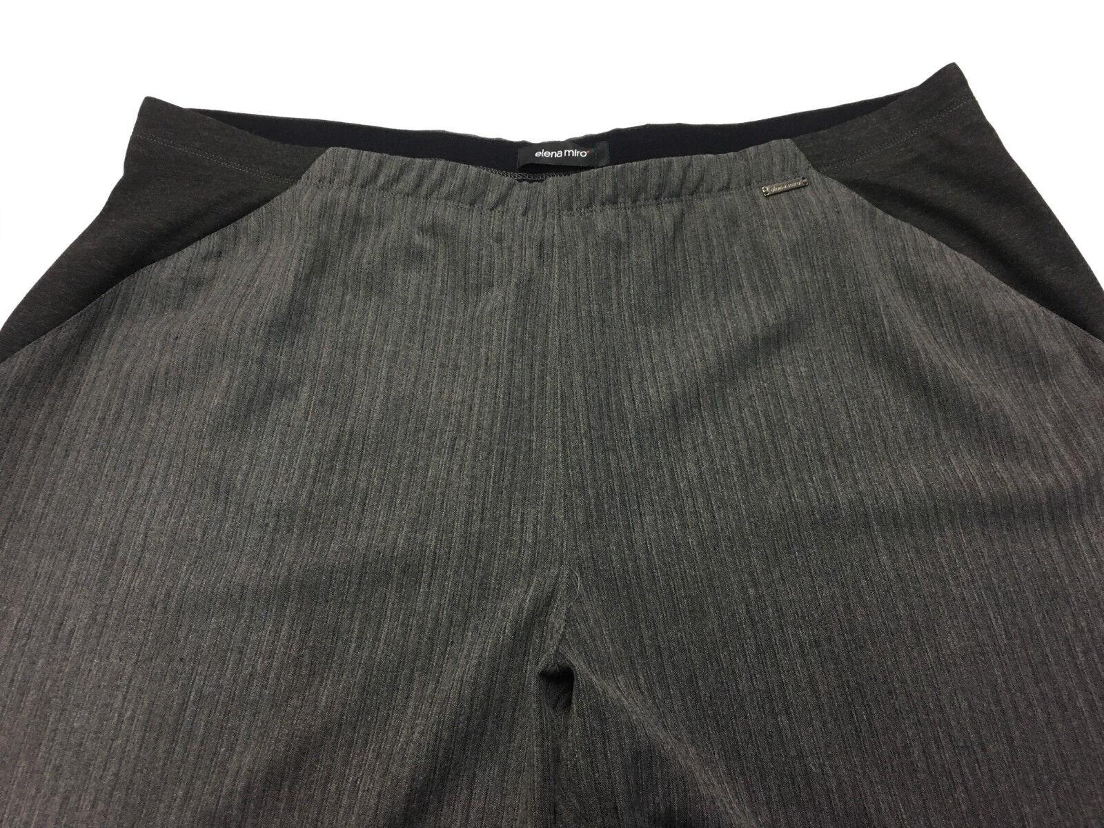 ELENA MIRO' Damenhose grau grau grau Nadelstreifen mit elastisch 68% Polyester 705abc