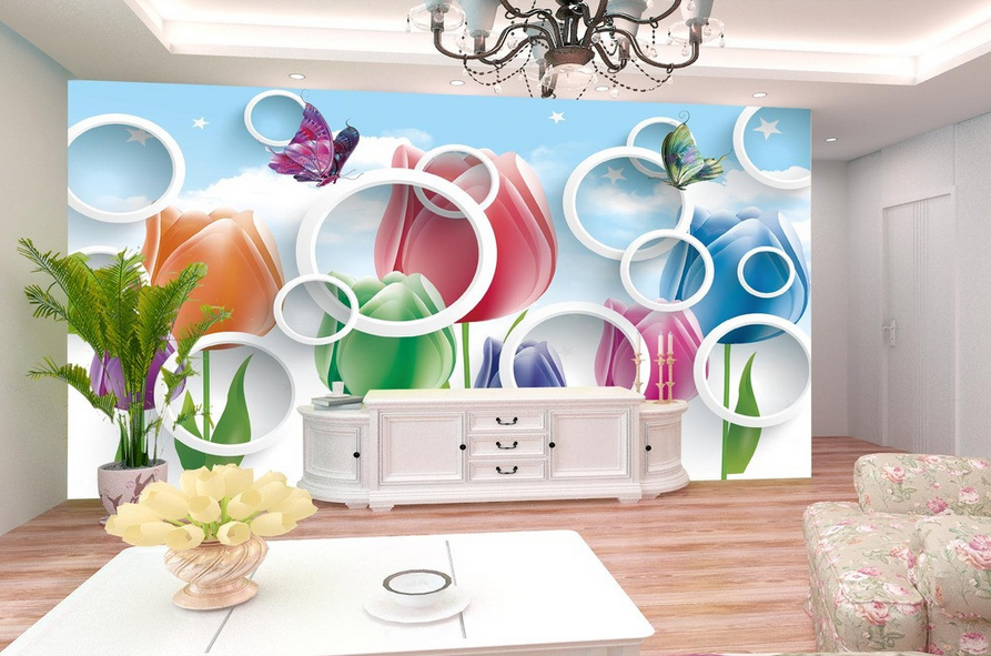 Color 3D de de de impresión de pared papel pintado mural Pétalo 588 Wallpaper Mural AJ Pared au Limón 8c7747
