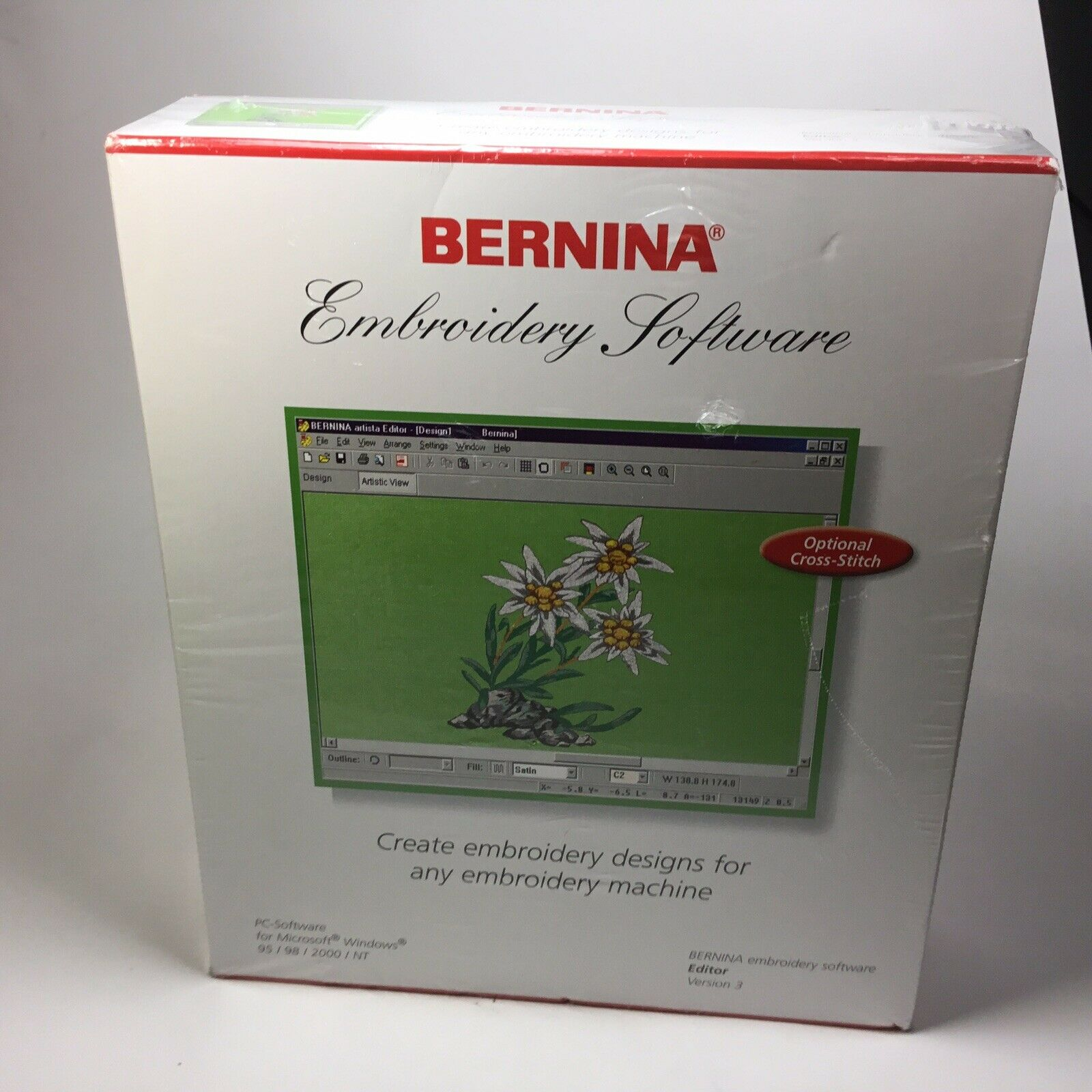Bernina Embroidery Software Editor Version 3 For Artista Aurora Machines For Sale Online