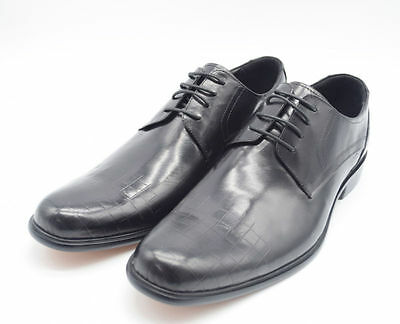 Mens New Black Lace Up Leather Lined Formal Brogues Shoes Size UK 10/ EU 44