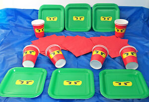 Image is loading LEGO-NINJAGO-Children-039-s-Birthday-Party-Tableware-  sc 1 st  eBay & LEGO NINJAGO Childrenu0027s Birthday Party Tableware Pack/Set/Kit ...