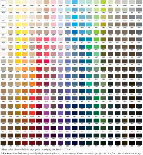 Gutermann Mara 30 100/% Polyester Thread for Top Stitch 6 COLORS OF YOUR CHOICE