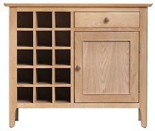 Bergen Light Oak Wine Cabinet Rack / Sideboard / Cupboard -  Scandinavian Style