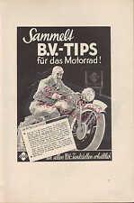 HAMBURG, Werbung 1936, B.V. Aral Einregulierung Benzin B.V.-Tips Motorrad