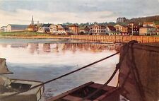 BAGOTVILLE QUEBEC CANADA VIEWED FROM WHARF~CANADA STEAMSHIP LINES POSTCARD 1953