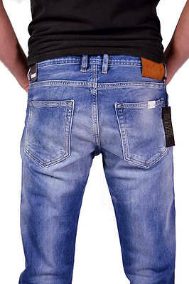 NEU REPLAY Jeans MA972 GROVER 606 308 Mittelblau Straight Fit