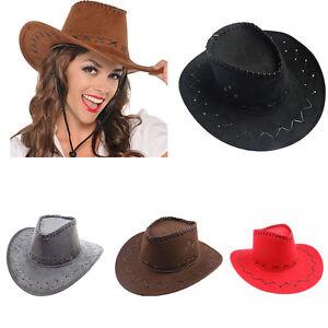 Mens Womens Wild West Fancy Cowgirl Cowboy Old West Hat Western ... c601aa974c99