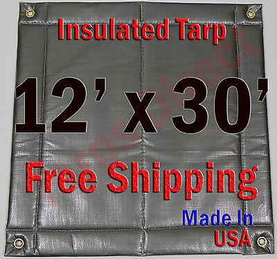 "Home & Garden Careful 12' X 30' Insulated Poly Tarp 1/4"" Foam Core Concrete Padding Wall Cushion Kiln Buy One Give One"
