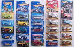 '96 '97 '99 '02 '04 '05 '06 '07 '08 '09 Hot Wheels VW Bus Drag Truck Choice Lot