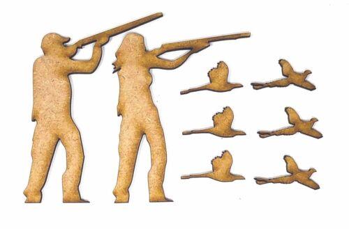 chasse Idées CHASSE TIR en bois MDF Craft Formes Mâle et Femelle CHASSEURS