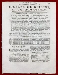 Haiti-en-1788-Bordeaux-Saint-Domingue-Port-au-Prince-Journal-de-Guienne-Vignes