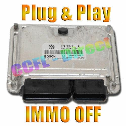 VW T4 2.5 102hp TUNED REMAPPED ECU 0281010459 074906018AL ACV IMMO OFF PLUG  TDI