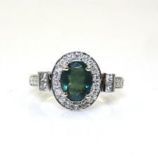 Natural Color Change Alexandrite 1.30Cts Ring w/Diamond 14K White Gold (14353)